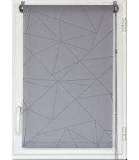 Store enrouleur tamisant imprime geo 45x180cm - gris