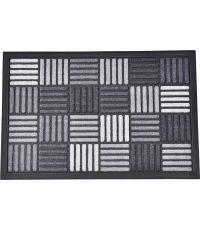 Tapis Caroll nylon/caoutchouc gris - 60 x 40