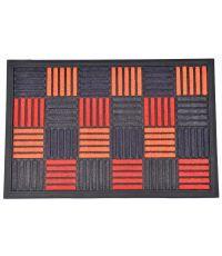 Tapis Caroll nylon/caoutchouc orange - 60 x 40