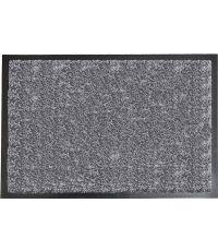 Tapis Baptiste polyamide/PVC bleu gris chiné - 80 x 60