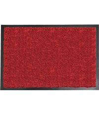 Tapis Baptiste polyamide/PVC rouge - 80 x 60