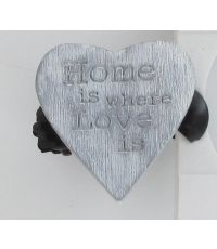 Pince bois gm amore x2 - gris/blanc