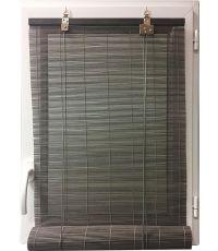 Store enrouleur baguettes bambou 90 x 130 cm - gris