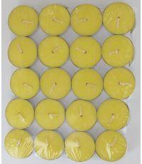 Bougie chauffe-plat citronnelle pm x40 - argent
