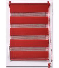 Store enrouleur lumiere/nuit 45x180cm - rouge piment - LUANCE