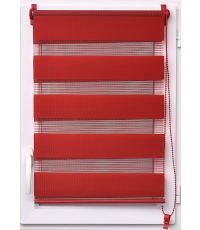 Store enrouleur lumiere/nuit 45x90cm - rouge piment - LUANCE