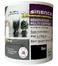 Peinture de Rénovation Multi-support Noir Satin 0,5L- RESINENCE
