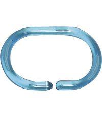 Set de 12 anneaux de douche  turquoise translucide