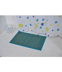 Tapis bambou 50 x 80 cm - bleu
