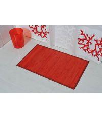 Tapis bambou 50x80cm - rouge - TENDANCE