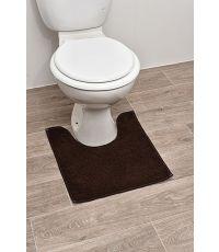 Tapis contour WC polyester 45 x 50 cm - marron