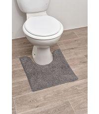 Tapis contour WC polyester 45 x 50 cm - gris