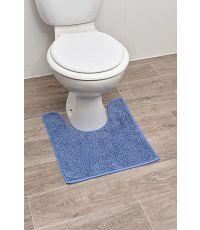 Tapis contour WC polyester 45 x 50 cm - ciel