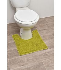 Tapis contour WC polyester 45 x 50 cm - vert anis