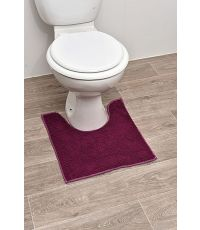 Tapis contour WC polyester 45 x 50 cm - aubergine