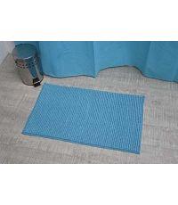 Tapis microfibre boules uni 45 x 75 cm - turquoise