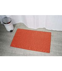 Tapis microfibre boules uni 45 x 75 cm - orange