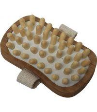 Brosse de massage corps rectangulaire bois - naturel - TENDANCE