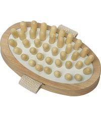 Brosse de massage corps ovale bois - naturel - TENDANCE