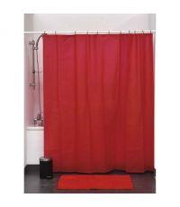 Rideau de douche peva 180x200cm - rouge - TENDANCE