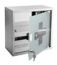 Armoire à pharmacie Roma - 30x30x15 cm - Chrome brossé