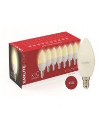 Lot de 10 ampoules LED flamme E14 SMD