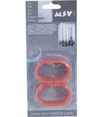Anneaux pour rideaux de douche rouge - lot de 12 - MSV