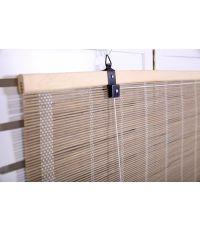 Store décoratif en bambou 1 x 2m taupe