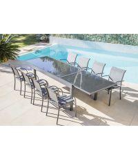 Table de jardin extensible en aluminium