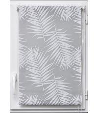 Store enrouleur tamisant imprime palmier 45x180cm - blanc - LUANCE