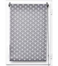 Store enrouleur tamisant imprime vintage 45x180cm - gris - LUANCE