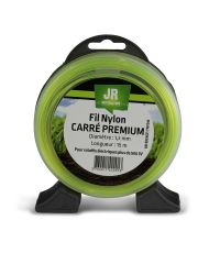 Fil nylon Carré ø 1,3 mm Premium 15 m - jaune - JR