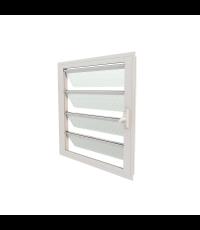 Jalousie 800x800 - Coloris Blanc - Vitrage Granité