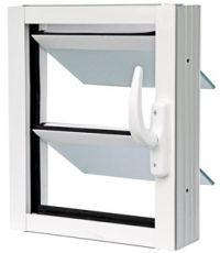 Jalousie 400x400 - Coloris Blanc - Vitrage Granité