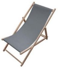 Chaise longue Chilienne gris anthracite