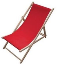 Chaise longue Chilienne rouge