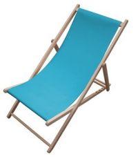 Chaise longue Chilienne bleu lagon