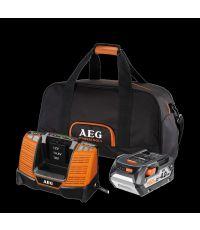 Batterie + Chargeur + Sac 18 Volts 4,0Ah - AEG
