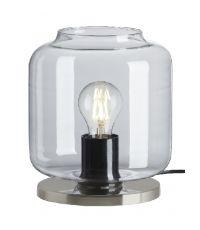 Lampe de table en verre Nickel mat Ø18 x H.21,5 cm