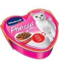 Nourriture bœuf carottes pour chat Poésie Barquette 85g - VITAKRAFT