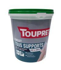 Enduit de lissage tous support - pâte 1,5 kg - TOUPRET