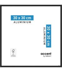 Cadre Accent Aluminium 30x30cm Noir - NIELSEN