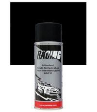 Peinture aérosol haute température 650°C noir 400 ml - RACING