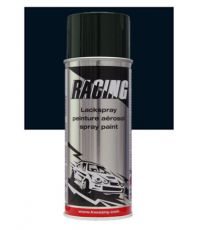Peinture aérosol noir foncé mat RAL 9005 400 ml - RACING