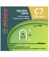 agrafes pour câbles c7 - 14 mm - MR BRICOLAGE