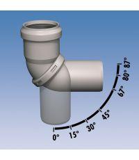Coude orientable de 0 à 87 degré, pour siphon horizontal - LUX ELEMENTS