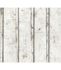 Papier Peint Vinyl Expansé Intissé Planche Blanc 5,3m² - AS CREATION