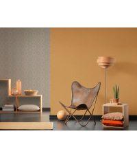 Papier peint vinyle intissé 0,53x10m Effet textile Moutarde - AS CREATION