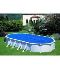 Bâche de protection été pour piscine acier 7.30 x 3.75 m - 180µ - GRE