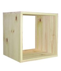 Cube simple Kubik H36xL36xP30cm pin massif naturel - SERVARY